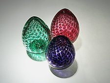 Bubble Eggs by Paul Lockwood (Art Glass Sculpture)