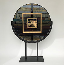 Iridescent Journey by Sabine  Snykers (Art Glass Sculpture)