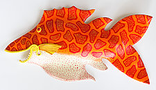 Orange Fiesta by Byron Williamson (Ceramic Wall Sculpture)