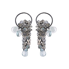 Pelagia Earrings by Michelle Pajak-Reynolds (Silver & Stone Earrings)