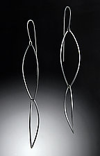 Curved Shields Earring by Grace Stokes (Silver Earrings)