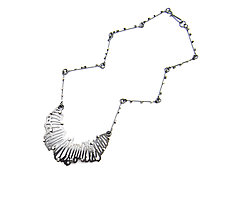 Crescent Shattered Pendant by Joanna Nealey (Silver Necklace)
