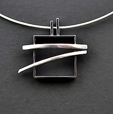Pagoda Necklace by Hilary Hachey (Silver Necklace)