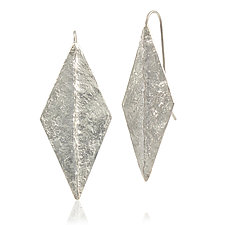 Large Diamond Dangle Earrings by Amanda Hagerman (Silver Earrings)