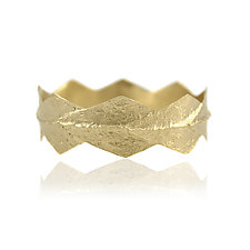 Majestic Ridge Bangle by Amanda Hagerman (Gold Bracelet)