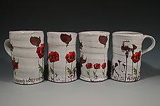 Poppy Mug by Justin Rothshank (Ceramic Mug)
