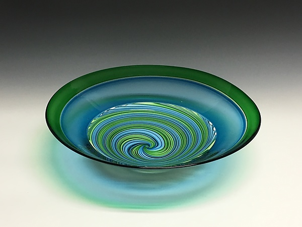 Spring Vortex Glass Bowl