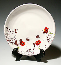Poppy Salad Plate by Justin Rothshank (Ceramic Plate)