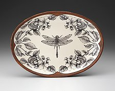Small Oval Platter: Dragonfly by Laura Zindel (Ceramic Platter)