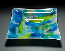 Salish Sea Bowl by Martha Pfanschmidt (Art Glass Bowl)