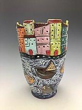 Sicily by Lilia Venier (Ceramic Vase)