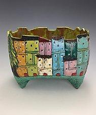 Tuscany II by Lilia Venier (Ceramic Vase)