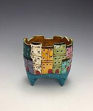 Tuscany IV by Lilia Venier (Ceramic Vase)