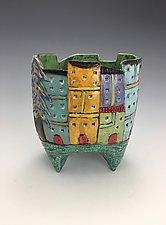 Tuscany III by Lilia Venier (Ceramic Vase)
