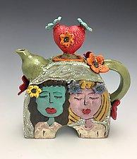 Yoga Friends by Lilia Venier (Ceramic Teapot)