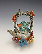 Waiting for Love by Lilia Venier (Ceramic Teapot)