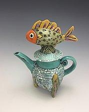 Lonely Boy III by Lilia Venier (Ceramic Teapot)