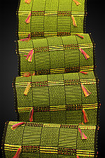 Africa in Lime, Mardi Gras, and Black by Pamela Whitlock (Bamboo Scarf)