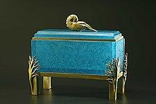 Nautilus Box by Georgia Pozycinski and Joseph Pozycinski (Art Glass & Bronze Sculpture)
