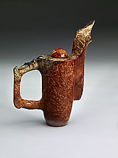 Amboyna Burl Upright Pot by Clifford Lounsbury (Wood Teapot)