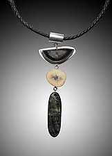 Tribal Series #5 by Caroline Viene (Silver & Stone Necklace)