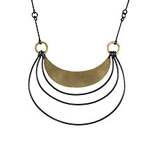 Hatch Arc Necklace by Lisa Crowder (Gold & Silver Necklace)