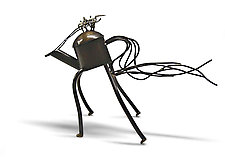 Riding the Wild Teapot by Mary Ann Owen and Malcolm  Owen (Metal Teapot)