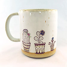 Succulents on the Window Mug by Chris Hudson and Shelly  Hail (Ceramic Mug)