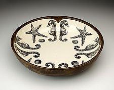 Small Pasta Bowl: Seahorse by Laura Zindel (Ceramic Bowl)