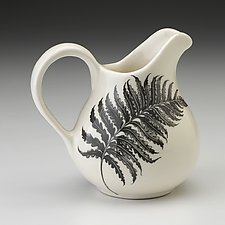 Creamer: Wood Fern by Laura Zindel (Ceramic Vessel)