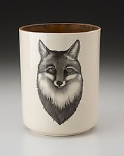 Utensil Cup: Fox Portrait by Laura Zindel (Ceramic Vessel)