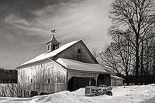 Granby Barn by Jim Bremer (Black & White Photograph)