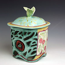 Orchard Jar with Nest by Peggy Crago (Ceramic Jar)
