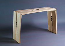 Maple Console by Alan Powell (Wood Console Table)