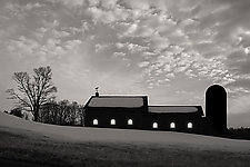 Twilight Barn by Jim Bremer (Black & White Photograph)