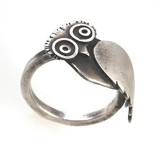 owl ring by susan elnora silver ring artful home