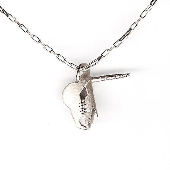 Unicorn Skull Necklace