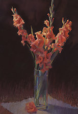 Orange Gladiolus by Cathy Locke (Giclee Print)
