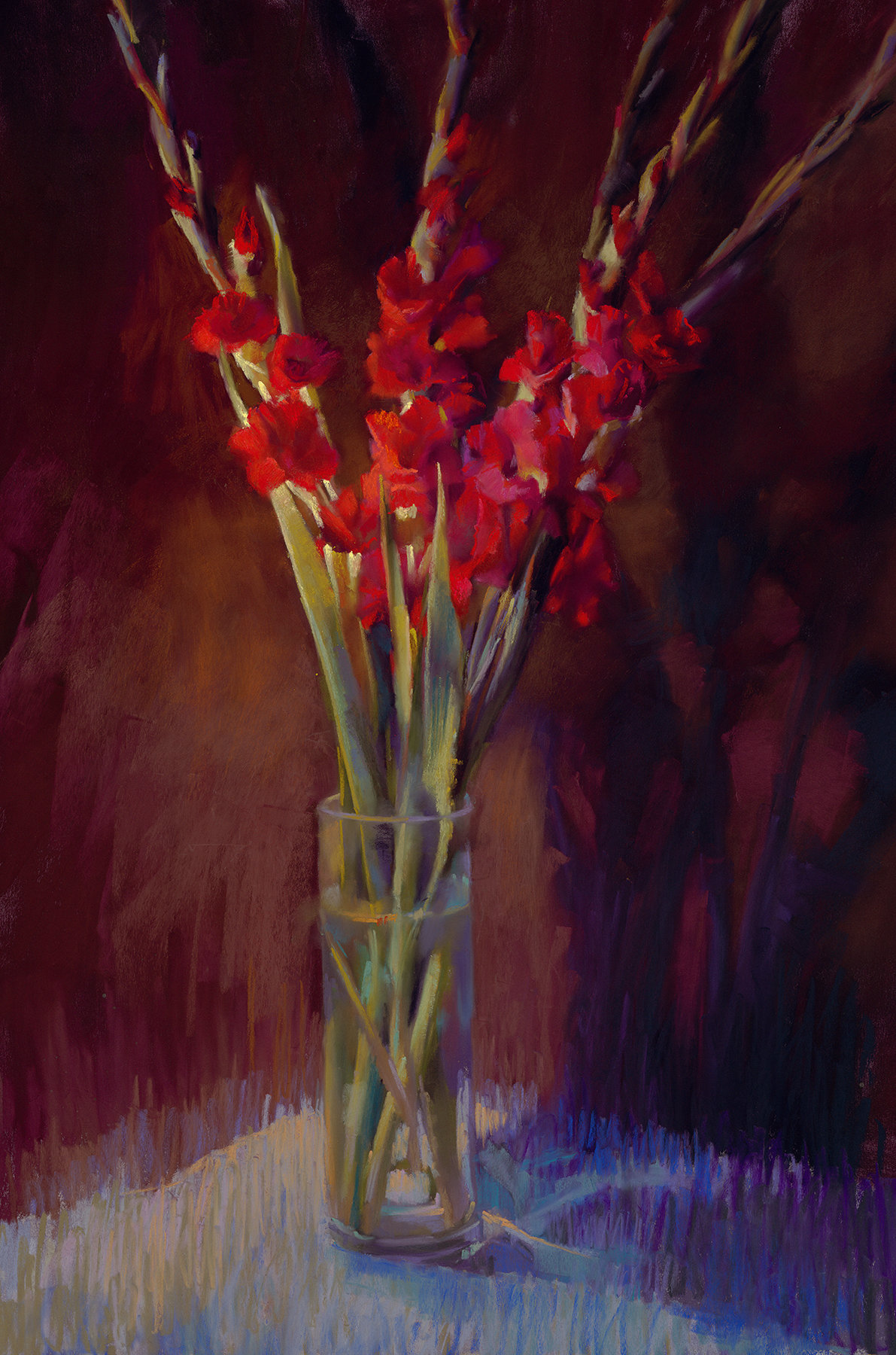 Red Gladiolus By Cathy Locke Giclee Print Artful Home