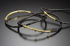 Pitted Bangles by Robin Cust (Gold & Steel Bracelet)