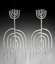 Stalks sans Spokes Earrings by Robin Cust (Silver Earrings)