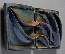 Quiet  Wave by Sara Baker (Ceramic Wall Sculpture)