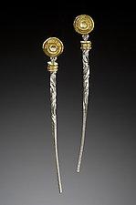 Long Tapers II by Robin Cust (Gold & Silver Earrings)