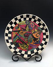 Bold Geometric Platter by Jean Elton (Ceramic Platter)