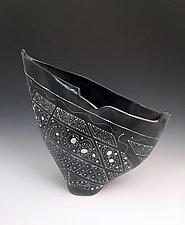 Intricate Patterned Medium Sized Sailvase by Jean Elton (Ceramic Vase)