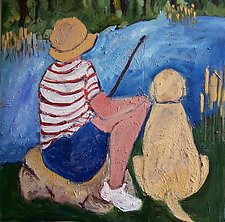 Gone Fishin' by Elisa Root (Oil Painting)