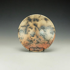 Horse Hair Raku Bowl III by Lance Timco (Ceramic Bowl)