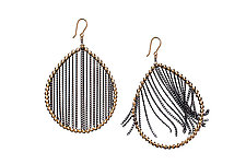 Teardrop Earrings by Estyn Hulbert (Gold & Silver Earrings)
