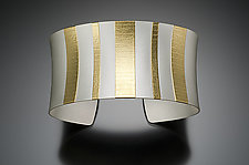 Bold Stripes Cuff by Tom McGurrin (Gold & Silver Bracelet)