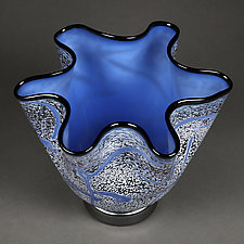 Fissure Vessel, Lunar by Eric Bladholm (Art Glass Vessel)